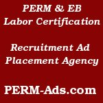Labor Certification Ad Agency